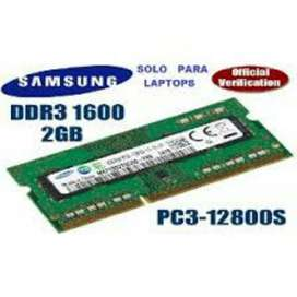 Memoria Ram Pc3l de 2gb para Portatil