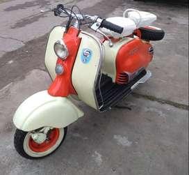 moto siambretta modelo 125 año 1955 original