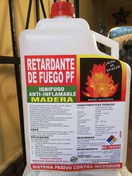 RETARDANTE DE FUEGO - IGNIFUGO - NO TOXICO