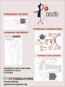 CLASES DE PATRONAJE Y ESCALADO  DIGITAL