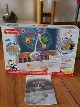 Cunero Movil Original Fisher Price con muñecos giratorios Nuevo