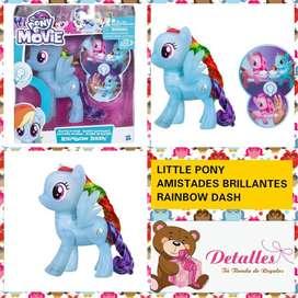 Little Pony Rainbow Dash Amiga Brillante