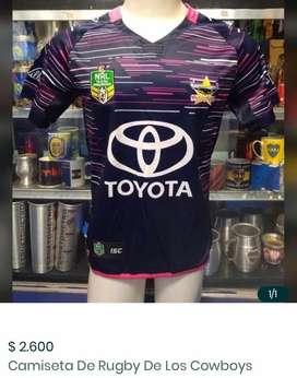 Camoseta rugby violeta cowboys