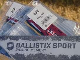 DDR4 16GB (2x8) Ballistix Sport LT 2666Ghz