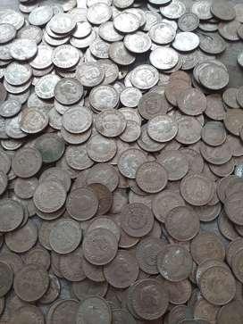 Vendo un lote de monedas antiguas..de 10 centavos  y 20 centavos..en total hay 500monedas.de diferentes  fechas