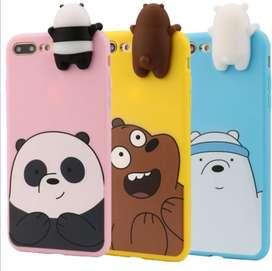 Cases NUEVOS para iPhone 6s, 7 y 8 osos escandalosos (bare bears) solo para IPHONE (también iPhone Plus)