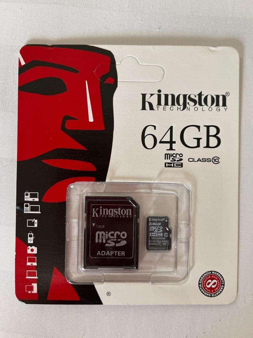 Memoria SD Kingston Nueva de 64GB