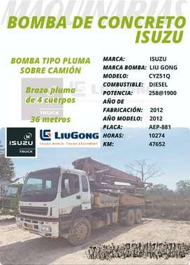 BOMBA DE CONCRETO ISUZU-LIUGONG