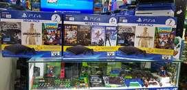 Consola ps4 slim nueva 7 juegos 3 meses plus