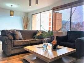 Apartamento en Arriendo Amoblado por La Linde en el Sector del Poblado, COD PR 9663.