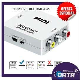 CONVERTIDOR / ADAPTADOR HDMI A AV (RCA)