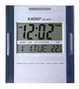 Reloj Pared Kadio Digital Hora Fecha Alarma Ter Env Inmediato