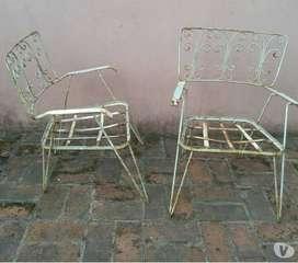 sillones hierro de jardin 2 unidades vintaje