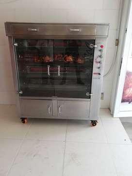 Horno vertical infrarrojo para pollo - carnes - pescado