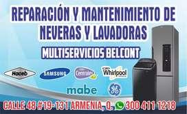 Mantenimiento y reparación de lavadoras neveras  Armenia Calarcá circacia tebaida Montenegro Salento Filandia quimbaya