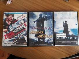 Dvds Originales Dunkerque / Heroes de las Ardenias / Zona de Muerte 2