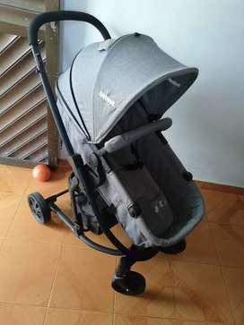 Coche cuna prima Bebesit color gris