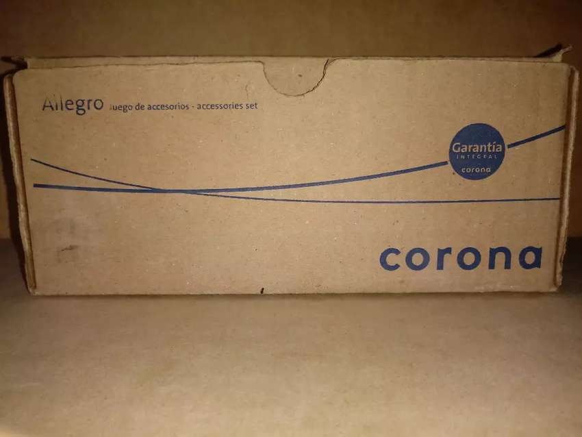 Accesorios para baño en ceramica Marca Corona color azul 0