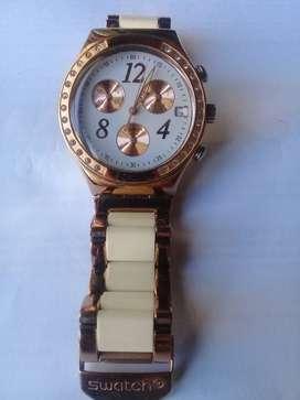 Reloj swatch Ycg406g Dreamwhite Rose Dama