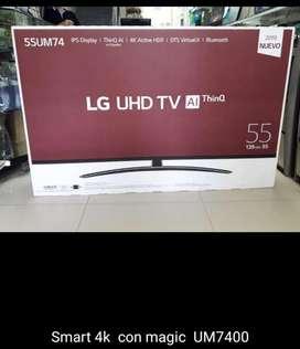 Tv Lg de 55 Pulgadas 4k. Modelo 2019