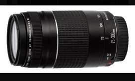 Lente Canon EF 75 -300 mm F/4-5,6 lll