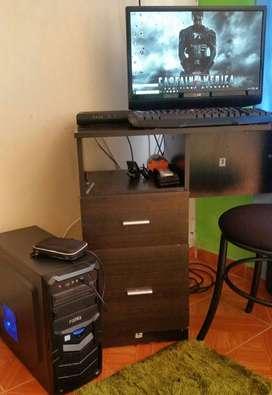 torre gamer con gtx 1050 ddr5 16gb ram ddr4 2400mhz m2 ssd 250gb mas 1 tera rigido de 7200rpm teclado y mouse gamer