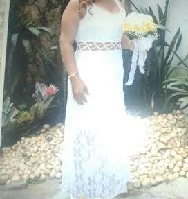 Vestido blanco largo