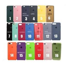 Case De iPhone, De Silicona Original (todos Los Modelos)