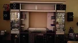 Mueble de Sala, Centro de Entretenimiento Melamine