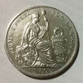 Moneda de plata, Perú 1 sol 1896