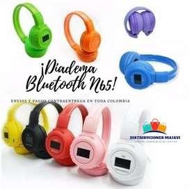 Audifonos De Diadema Bluetooth N65 Manos Libres + Obsequ