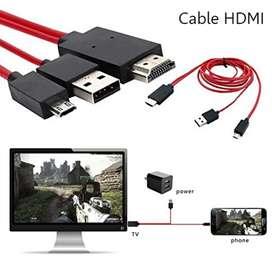 Cable HDMI MHL (transmitir pantalla de celular en TV)