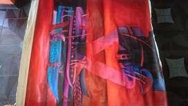 ermoso cuadro decorativo grande de colores muy vivos oleo sobre tela .