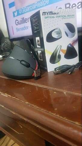 Mouse inalambrico ergonómico recargable