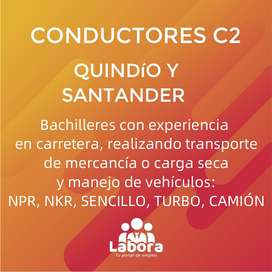 Conductores C2 Quindío y Santander