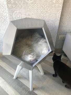 Cama para gato con diseño