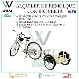 Alquiler de Remolque con bicicleta
