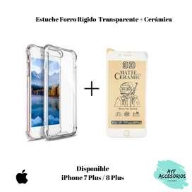 Estuche transparente para Iphone 7 PLUS / 8 PLUS más cerámica