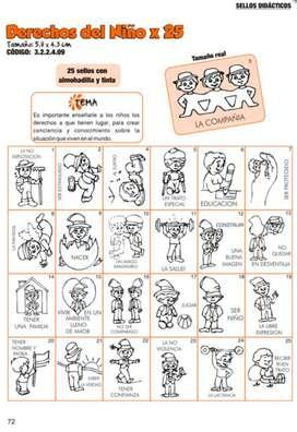Sellos Didácticos Derechos Del Niño X 25