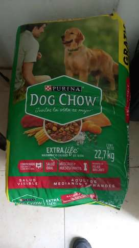 Bulto de purina dow chow extra life x 22.7kl
