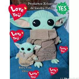 Peluche Almohada Baby Yoda San Valentin stock hoy
