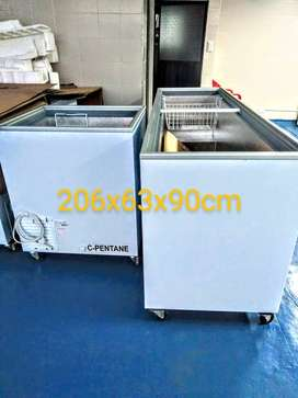 Congelador horizontal tapa vidrio 600 litros