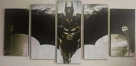 Espectacular cuadro múltiple de Batman de 5 secciones