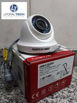 Cámara Hikvision Domo Plástico. DS-2CE56D0T-IRPF, 1080