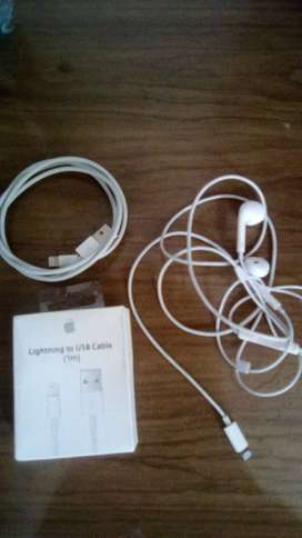 Vendo Audifonos y cargador para Iphone