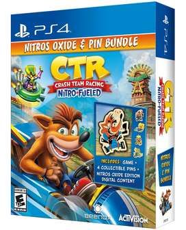 Crash Team Racing Nitro-Fueled - Nitros Oxide & Pin Bundle (PS4)