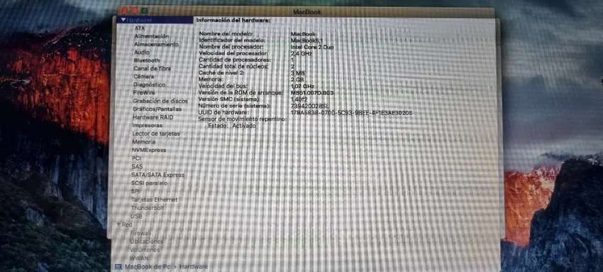 Portatil Macbook de 13.3