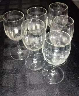 Copas de vino/oporto/agua de mesa