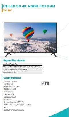 "TV 50"" INNOVA ANDROID"