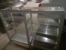 Vitrina grande de aluminio 150 de ancho y altura 120